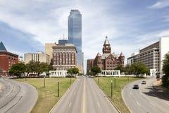 Plaza de Dealey à Dallas, le Texas, Etats-Unis photos stock