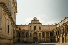 Plaza de Duomo dans Lecce images stock