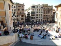 A plaza de España é um dos quadrados os mais conhecidos em Roma Itália Europa fotografia de stock royalty free