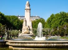 Plaza de España ή πλατεία της Ισπανίας στην κεντρική Μαδρίτη Στοκ εικόνες με δικαίωμα ελεύθερης χρήσης
