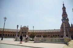Plaza de España Σεβίλλη στην Ισπανία Στοκ Εικόνα