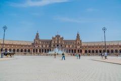 Plaza de España Σεβίλλη στην Ισπανία Στοκ Εικόνες