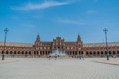 Plaza de España Σεβίλλη στην Ισπανία Στοκ φωτογραφία με δικαίωμα ελεύθερης χρήσης