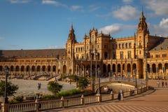 Plaza de España em Sevilha, Espanha imagens de stock royalty free