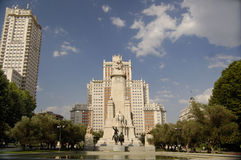 Plaza de España, Madrid Royalty Free Stock Photo