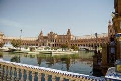 Plaza de España Séville en Espagne Photo libre de droits