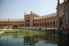 Plaza de España Séville en Espagne Image libre de droits