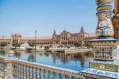 Plaza de España Séville en Espagne Photographie stock libre de droits
