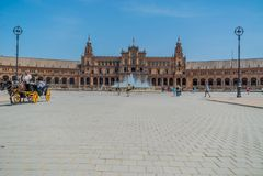 Plaza de España Séville en Espagne Photos stock