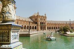 Plaza de España Sevilla en España imágenes de archivo libres de regalías