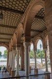 Plaza de España Sevilla en España imagen de archivo