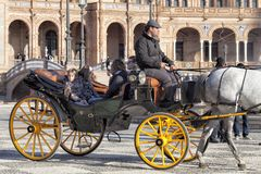 Plaza de España in Siviglia immagine stock