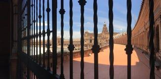 Plaza de España πανόραμα Στοκ Φωτογραφία