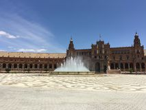 Plaza de España πηγή Στοκ εικόνα με δικαίωμα ελεύθερης χρήσης