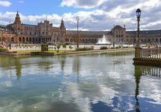 Plaza de España, Σεβίλλη, Ισπανία Στοκ εικόνα με δικαίωμα ελεύθερης χρήσης