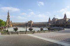 Plaza de España, Σεβίλλη, Ισπανία Στοκ φωτογραφία με δικαίωμα ελεύθερης χρήσης