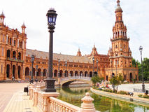 Plaza de España Σεβίλλη Ισπανία Στοκ φωτογραφία με δικαίωμα ελεύθερης χρήσης