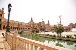 Plaza de España, Σεβίλλη Στοκ Εικόνες