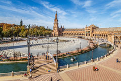 Plaza de España, Σεβίλη Στοκ Εικόνες