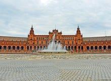 Plaza de España στη Σεβίλη, Ισπανία Στοκ εικόνες με δικαίωμα ελεύθερης χρήσης