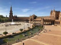 Plaza de España EN Σεβίλλη Στοκ εικόνες με δικαίωμα ελεύθερης χρήσης
