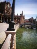 Plaza de España en Sevilla, España Imágenes de archivo libres de regalías
