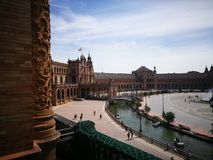 Plaza de España en Sevilla, España Foto de archivo libre de regalías