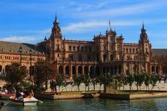 Plaza de España i Seville Royaltyfri Bild