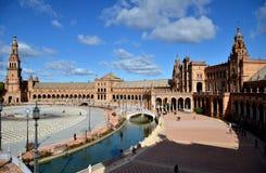 Plaza de España, Séville, Espagne Images libres de droits