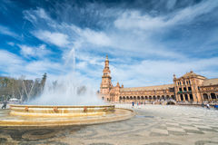 Plaza de España Sevilla, Andalucía, España Imagen de archivo