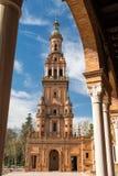 Plaza de España Sevilla, Andalusien, Spanien Lizenzfreie Stockfotografie