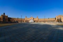 Famous Plaza de Espana, Σεβίλλη, Ισπανία Στοκ Εικόνα
