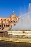 Famous Plaza de Espana, Σεβίλλη, Ισπανία Στοκ εικόνα με δικαίωμα ελεύθερης χρήσης