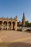 Famous Plaza de Espana, Σεβίλλη, Ισπανία Στοκ Φωτογραφίες