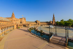 Famous Plaza de Espana, Σεβίλλη, Ισπανία Στοκ φωτογραφία με δικαίωμα ελεύθερης χρήσης