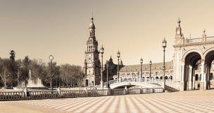 Plaza de España, στη Σεβίλλη Στοκ εικόνα με δικαίωμα ελεύθερης χρήσης