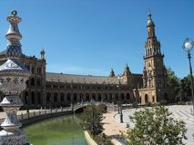 Plaza de España Canal royalty free stock photo