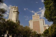 Plaza DE España, Madrid royalty-vrije stock afbeeldingen