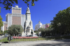 Plaza de España, Madrid, Spain royalty free stock photos