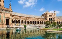 Plaza de España, octubre de 2016, Sevilla, Andalucía, España imagen de archivo