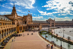 Plaza de España - Séville Photo stock