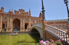 Plaza de España, Sevilla, España imágenes de archivo libres de regalías