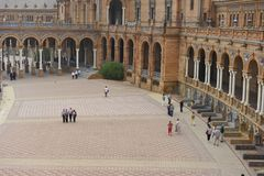 Plaza DE España, Sevilla, Spanje Royalty-vrije Stock Afbeelding