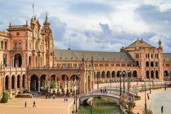 Plaza de España in Sevilla royalty free stock photography
