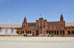 Plaza de España, Siviglia, Spagna fotografia stock libera da diritti