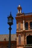 Plaza de España (Spain Plaza), Seville, Spain. The fragment of architecture Spain Plaza, Seville, Spain Stock Photo