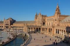 Bird view of plaza de espana royalty free stock photography
