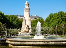 Plaza de España or Spain Square in central Madrid Royalty Free Stock Images