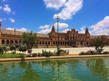 The Plaza de España - Spain Square, Seville, Spain stock photo