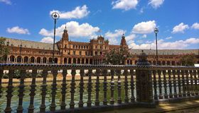 The Plaza de España - Spain Square, Seville, Spain royalty free stock images